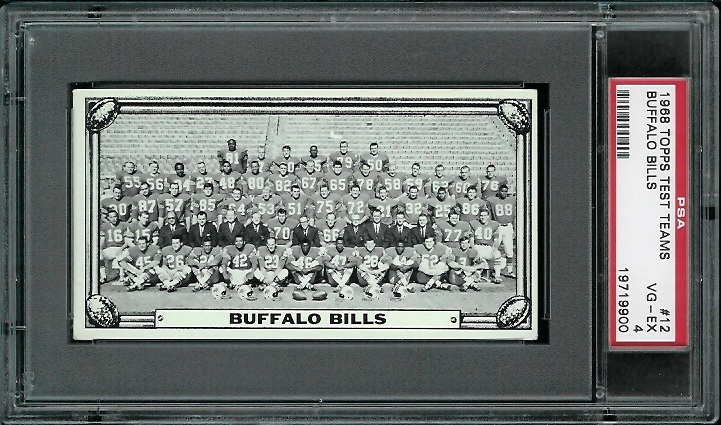 1968 Topps Test Team Photos #12 - Buffalo Bills Team - PSA 4