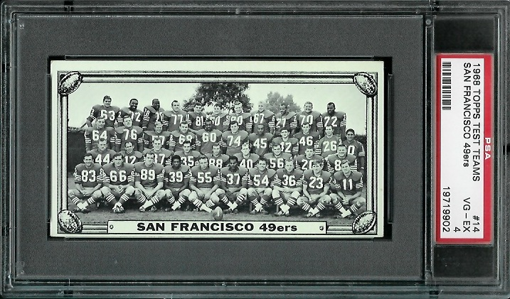1968 Topps Test Team Photos #14 - San Francisco 49ers Team - PSA 4