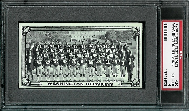 1968 Topps Test Team Photos #20 - Washington Redskins Team - PSA 4