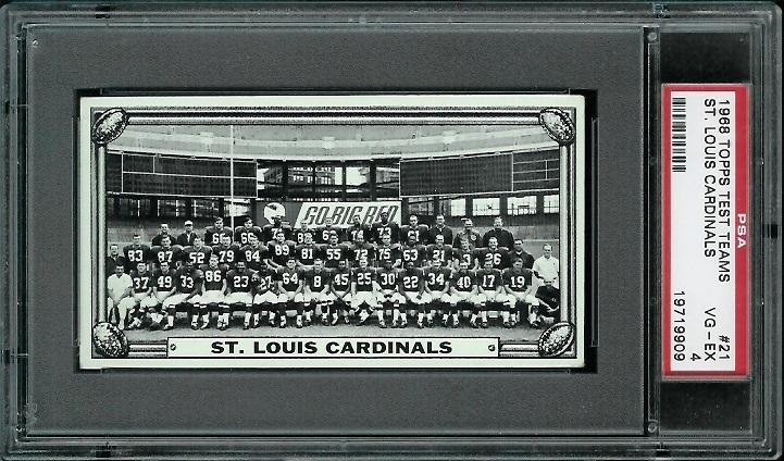 1968 Topps Test Team Photos #21 - St. Louis Cardinals Team - PSA 4