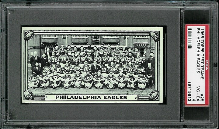 1968 Topps Test Team Photos #25 - Philadelphia Eagles Team - PSA 4