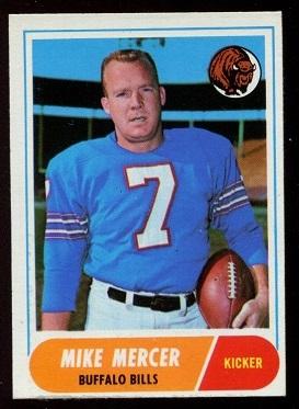 1968 Topps #123 - Mike Mercer - exmt