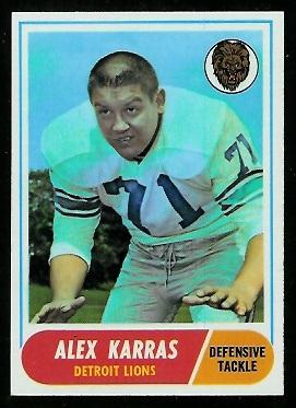 1968 Topps #130 - Alex Karras - nm