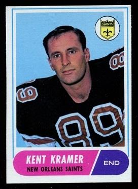 1968 Topps #134 - Kent Kramer - nm