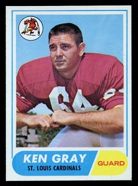 1968 Topps #138 - Ken Gray - nm