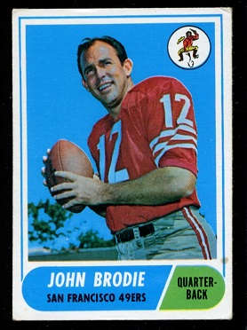 1968 Topps #139 - John Brodie - nm-mt oc