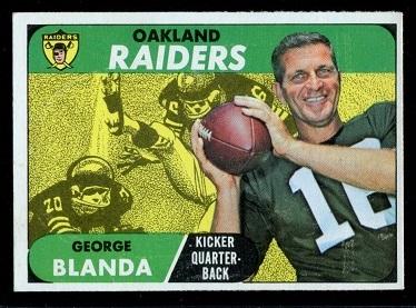 1968 Topps #142 - George Blanda - exmt