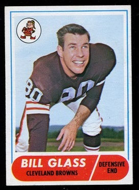 1968 Topps #154 - Bill Glass - exmt