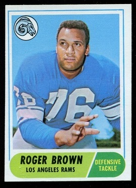 1968 Topps #158 - Roger Brown - exmt