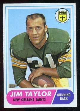 1968 Topps #160 - Jim Taylor - exmt