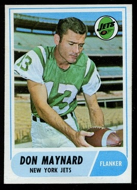 1968 Topps #169 - Don Maynard - nm
