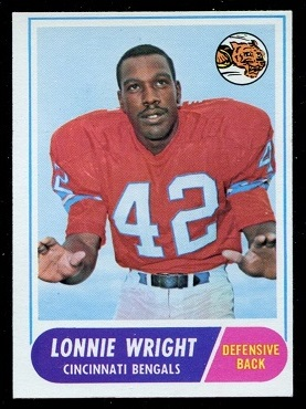 1968 Topps #174 - Lonnie Wright - exmt