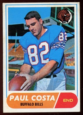 1968 Topps #175 - Paul Costa - exmt