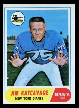 1968 Topps #187 - Jim Katcavage - nm-mt oc