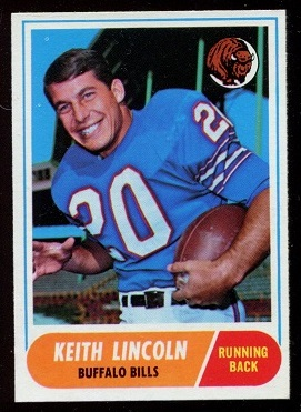 1968 Topps #19 - Keith Lincoln - nm+