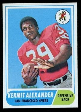 1968 Topps #191 - Kermit Alexander - nm