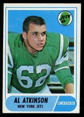 1968 Topps #195 - Al Atkinson - exmt