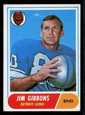 1968 Topps #208 - Jim Gibbons - exmt