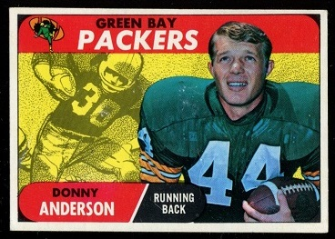 1968 Topps #209 - Donny Anderson - exmt