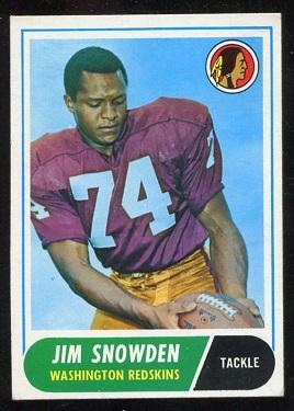 1968 Topps #212 - Jim Snowden - exmt