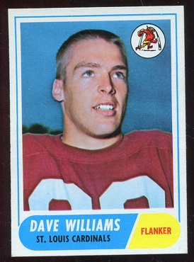 1968 Topps #218 - Dave Williams - exmt