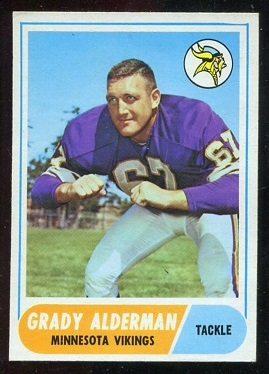 1968 Topps #3 - Grady Alderman - nm