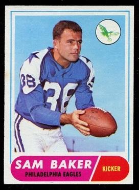 1968 Topps #32 - Sam Baker - exmt
