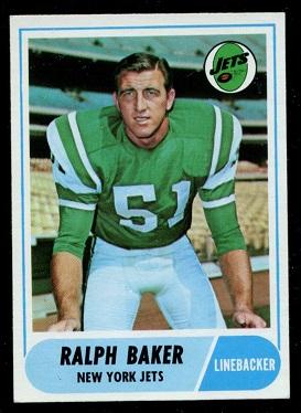 1968 Topps #38 - Ralph Baker - exmt