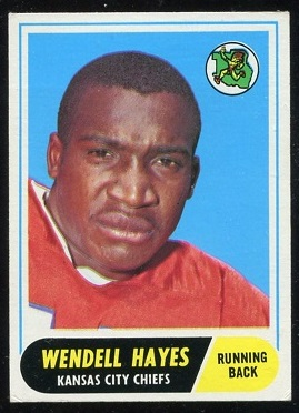 1968 Topps #40 - Wendell Hayes - exmt
