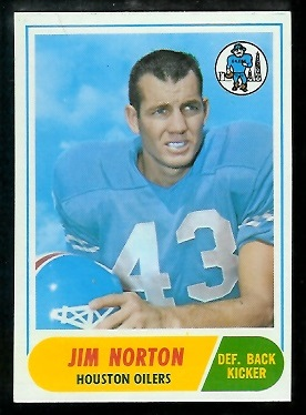 1968 Topps #41 - Jim Norton - nm+