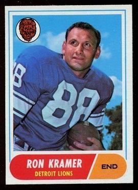 1968 Topps #51 - Ron Kramer - exmt