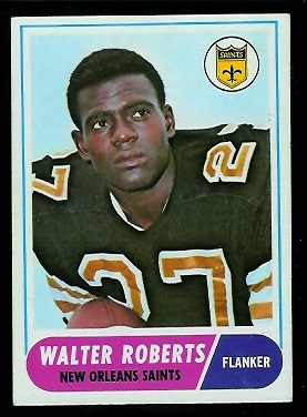 1968 Topps #56 - Walter Roberts - exmt