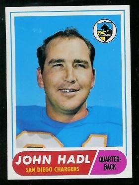 1968 Topps #63 - John Hadl - nm+