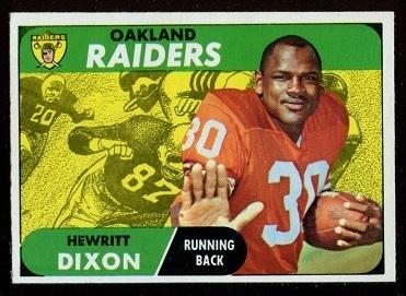 1968 Topps #64 - Hewritt Dixon - nm