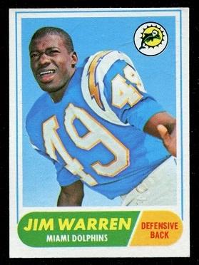 1968 Topps #66 - Jim Warren - exmt