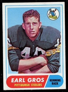 1968 Topps #7 - Earl Gros - exmt