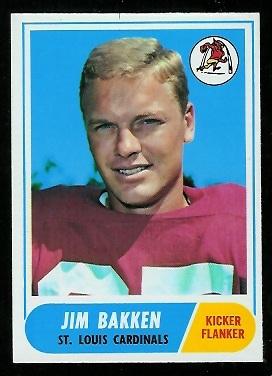 1968 Topps #8 - Jim Bakken - nm