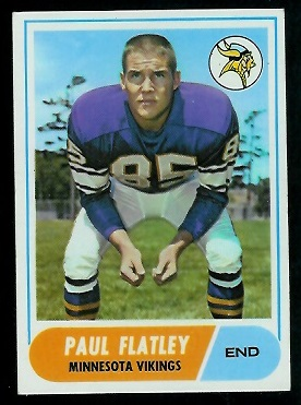 1968 Topps #81 - Paul Flatley - exmt