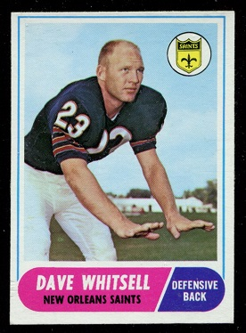 1968 Topps #82 - Dave Whitsell - exmt