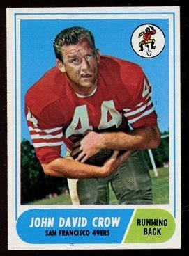 1968 Topps #87 - John David Crow - ex