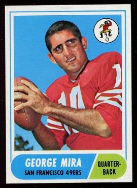 1968 Topps #9 - George Mira - nm