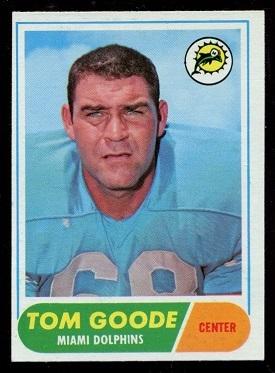 1968 Topps #92 - Tom Goode - exmt