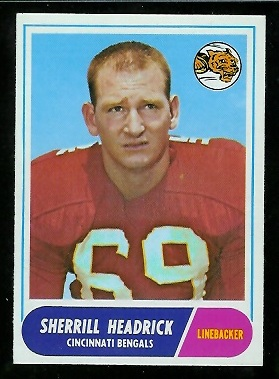 1968 Topps #96 - Sherrill Headrick - nm+