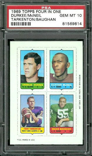 1969 Topps 4-in-1 #12 - Jim Burson, Dan Abramowicz, Dick Witcher, Ed O'Bradovich - PSA 10