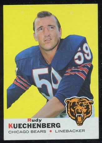 1969 Topps #117 - Rudy Kuechenberg - nm+