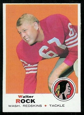 1969 Topps #136 - Walter Rock - exmt