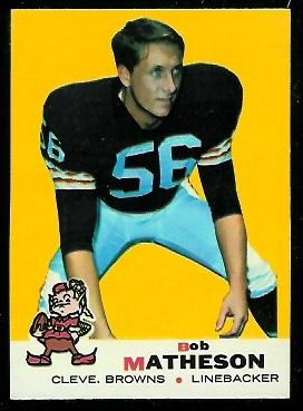 1969 Topps #27 - Bob Matheson - nm