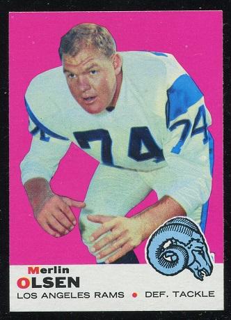 1969 Topps #34 - Merlin Olsen - nm