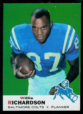 1969 Topps #5 - Willie Richardson - nm