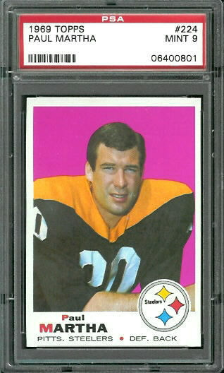 1969 Topps #224 - Paul Martha - PSA 9